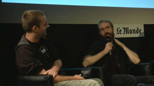 Michel Koch et Raoul Barbet, au Monde Festival, le 16 septembre.
