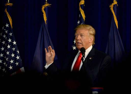 Donald Trump lors d'un meeting à Laconia, dans le New Hampshire, le 15 septembre.