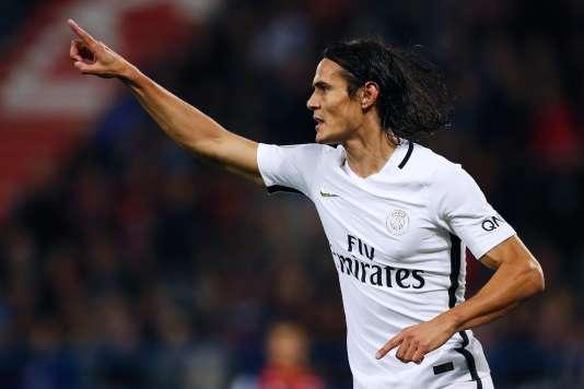 L'attaquant parisien Edinson Cavani a marqué un quadruplé face à Caen, le 16 septembre, à l'occasion de la 5e journée de Ligue 1.