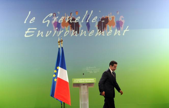 Nicolas Sarkozy, à Changé (Mayenne), en octobre 2011.