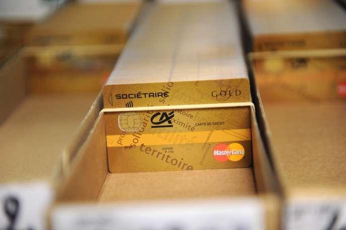 Une carte de crédit dotéede la technologiesans contact.