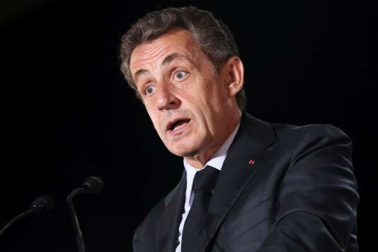 Nicolas Sarkozy en meeting, le 16 septembre, à Mandelieu-la-Napoule (Alpes-Maritimes).