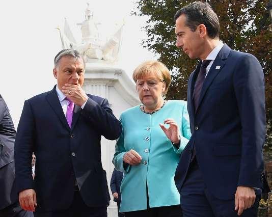 Angela Merkel etle premier ministre hongrois, Viktor Orban.