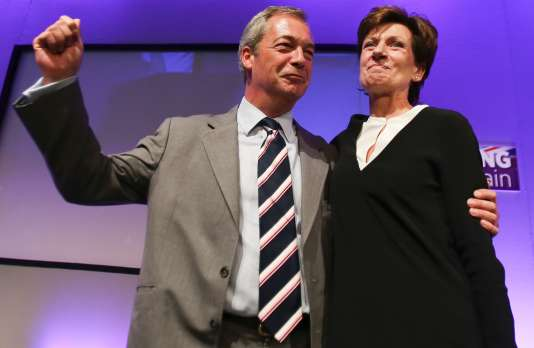 Nigel Farage et Diane James, vendredi 16 septembre.