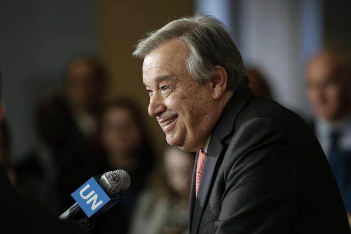 Antonio Guterres, au siège de l'ONU à New York le 12 avril.