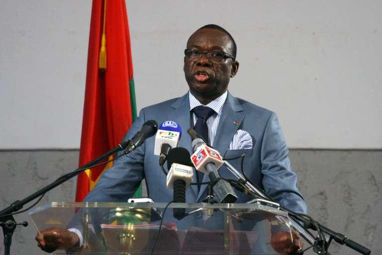 L'ancien premier ministre du régime de Blaise Compaoré, Luc Adolphe Tiao, en avril 2011 à Ouagadougou.