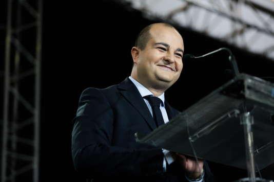 David Rachline, maire de Fréjus et nouveau directeur de campagne de Marine Le Pen, samedi 17 septembre à Fréjus .