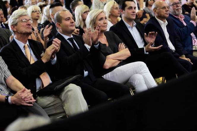 Marine Le Pen et David Rachline aux Estivales à Frejus, samedi 17 septembre.
