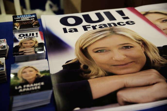 A Fréjus, le 17 septembre lors des estivales de Marine Le Pen.