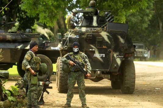 Des soldats philippins dans la province de Sulu.