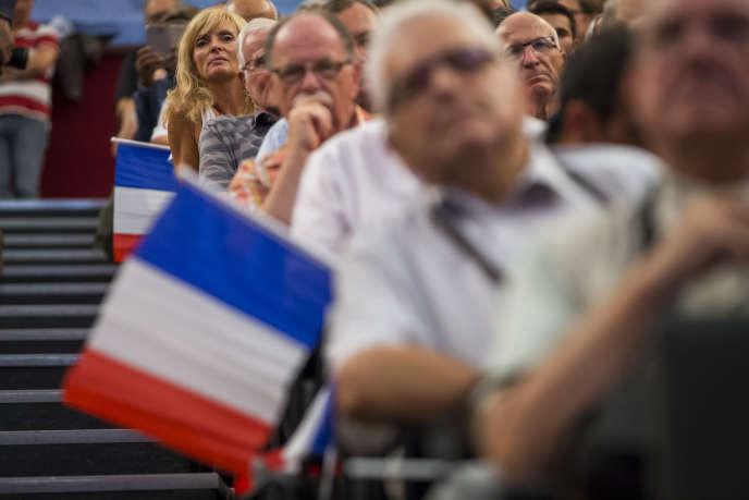 Lors du premier meeting de campagne d'Alain Juppé à Strasbourg, le 13 septembre.