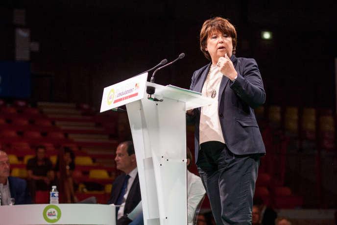 Martine Aubry, à Lille, en septembre.