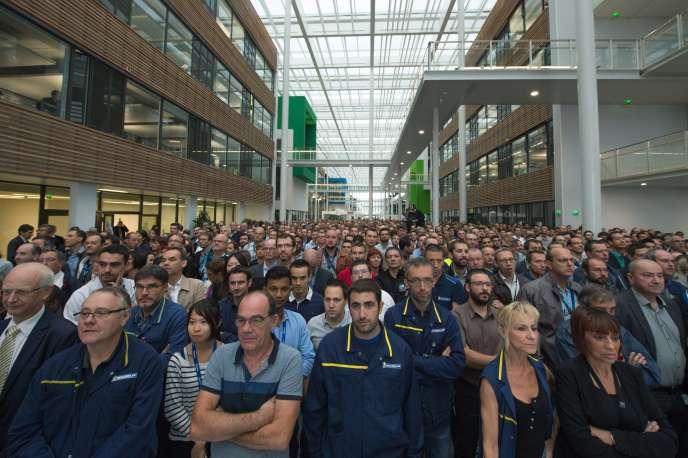 Inauguration du site Michelin de Ladoux, près de Clermont-Ferrand, vendredi 16 septembre.
