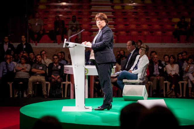 Dans son discours, la Maire de Lille et ex-première secrétaire du PS a défendu les mesures gouvernementales.