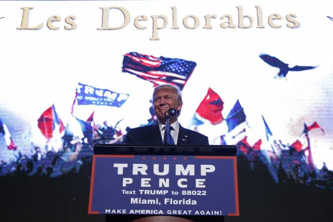 Pour répondre aux critiques d'Hillary Clinton sur ses supporteurs, Donald Trump a utilsé une référence aux«Misérables» de Victor Hugo lors de son meeting de campagne du 16 septembre à Miami (Floride).