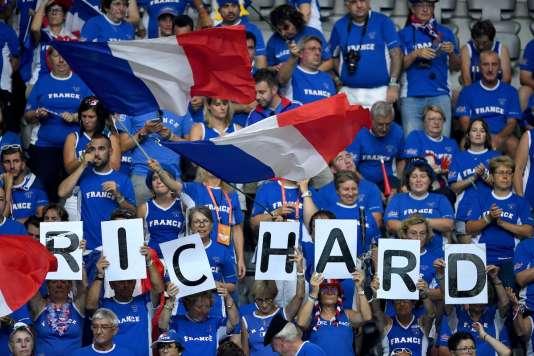 Les supporteurs français lors du match Gasquet-Coric, vendredi.