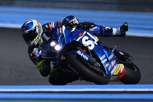 Anthony Delhalle sur la Suzuki numéro 1, le 17 septembre au Castellet lors du Bol d'Or.