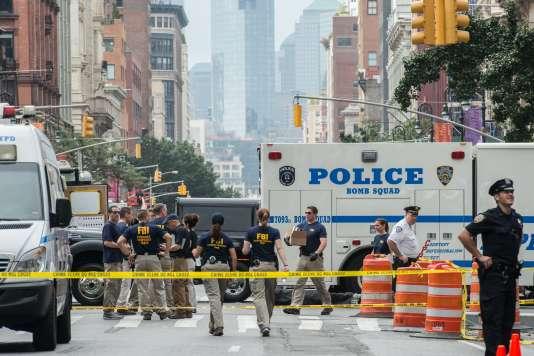 Sur la 23e rue à New York, dimanche 18 septembre.