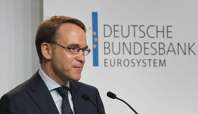 Jens Weidmann, le président de la Bundesbank, la banque centrale allemande, à Francfort, en avril.