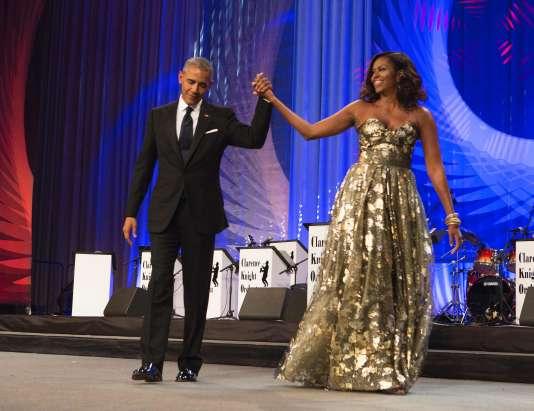 Barack et Michelle Obama durant le Congressional Black Caucus Foundation, samedi.
