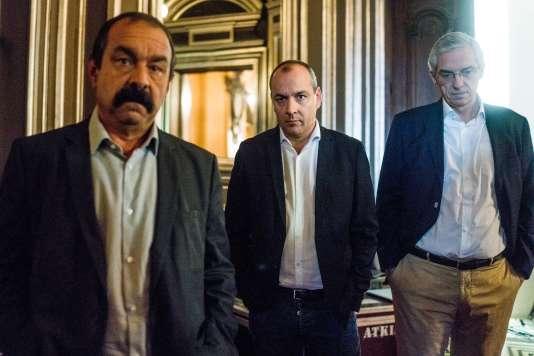 Paris, le 18 septembre 2016 : Le Monde Festival à l'Opéra Garnier en présence de Philippe Martinez, Laurent Berger et Alexandre Saubot.