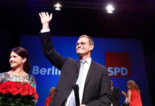 Le maire sortant, Michaël Müller, un ancien imprimeur de 51 ans qui a succédé à Klaus Wowereit (SPD) après la démission de celui-ci en 2014, à Berlin, le dimanche 18 septembre.