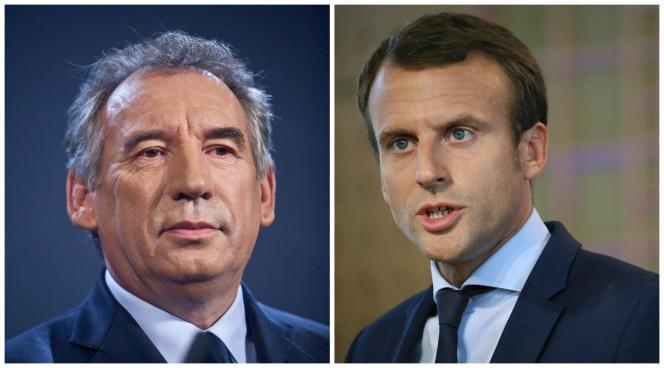François Bayrou et Emmanuel Macron.