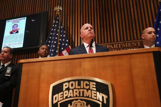 Conférence de presse de la police de New York après l'arrestation de l'auteur présumé de l'explosion samedi,Ahmad Khan Rahami le 19 septembre 21016.