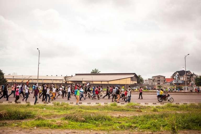 Manifestation de l'opposition à Kinshasa, le 19 août.