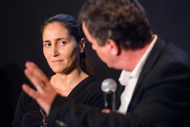 Cynthia Fleury et Alexandre Jardin lors du débat« Une autre façon de faire de la politique» à l'Opéra Garnier, dimanche.