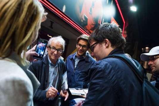 Ken Loach au Gaumont Opéra à Paris, le 18 septembre, dans le cadre du Monde Festival.