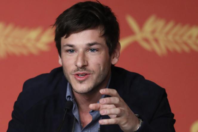 L'acteur Gaspard Ulliel lors de la conférence de presse du film de Xavier Dolan,« Juste la fin du monde» au 69e Festival de Cannes, le 19 mai 2016.