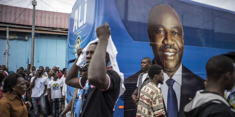 Des supporters du président Ali Bongo, le 25 août 2016.