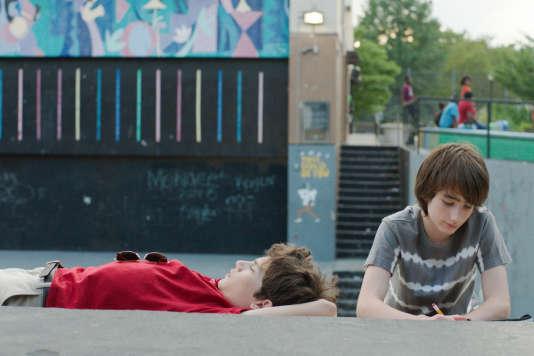Theo Taplitz et Michael Barbieri dans le film américain d'Ira Sachs, « Brooklyn Village » (« Little Men »).