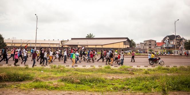 Manifestation à Kinshasa, le 19 septembre 2016, à l'appel de l'opposition à Joseph Kabila.