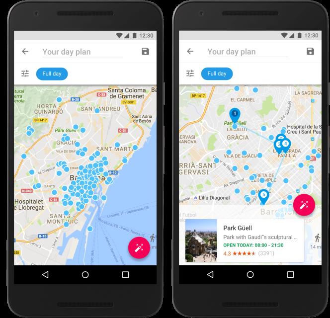 Google Trips propose des parcours personnalisés.