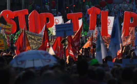 Lors de la manifestation mardi, à Bruxelles.
