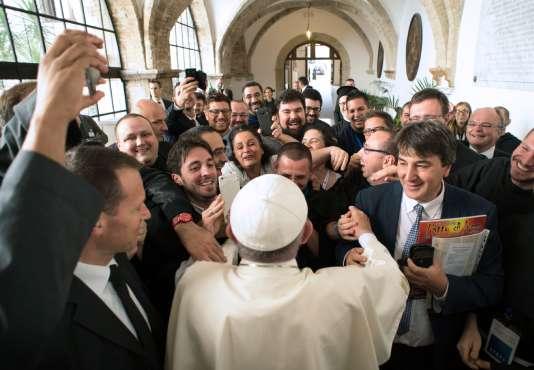 Le pape à Assise, le 20 septembre.