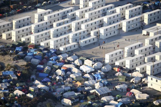 Une vue aérienne du camp de Calais, appelé également la«jungle», le 7 septembre.