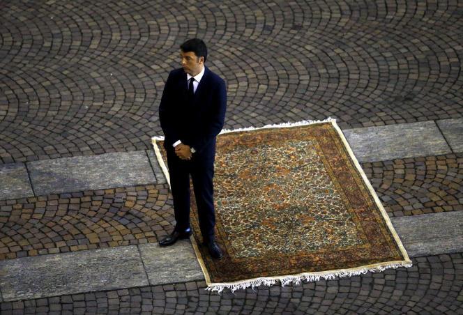 Le premier ministre italien, Matteo Renzi, à Modène, en Italie le 17 septembre.