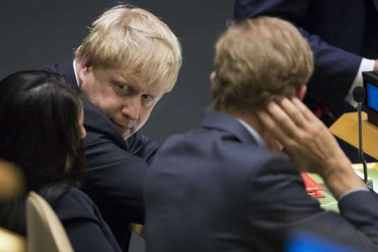 Le ministre des affaires étrangères birtannique, Boris Johnson, aux Nations unies, à New York, le 20 septembre.