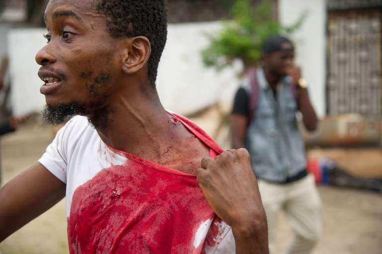 Un manifestant à Kinshasa, le 20 septembre 2016.