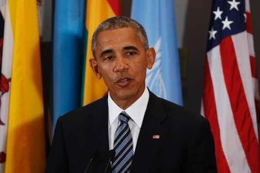 Barack Obama, lors de son dernier discoursà l'Assemblée générale des Nations unies, mardi à New York.