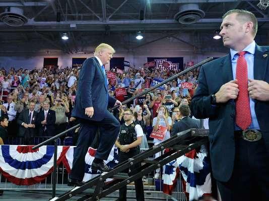 Le candidat républicain à la présidentielle américaine, Donald Trump, lors d'un meeting de campagne à l'université deHigh Point, en Caroline du Nord, le 20 septembre.