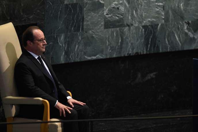 Le président français, François Hollande, lors de l'Assemblée générale des Nations unies à New York, le 20 septembre 2016.