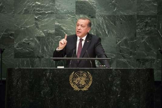 Le président turc Recep Tayyip Erdogan lors de son discours devant l'Assemblée générale des Nations unies, le 20 septembre, à New York.