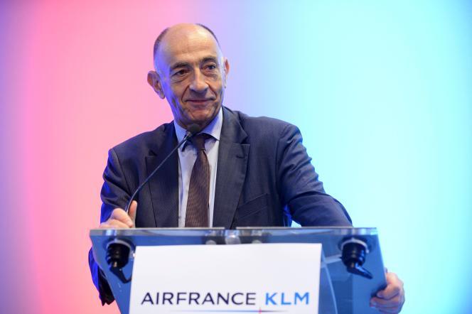 Jean-Marc Janaillac, PDG d'Air France-KLM, le 20 septembre à Paris.