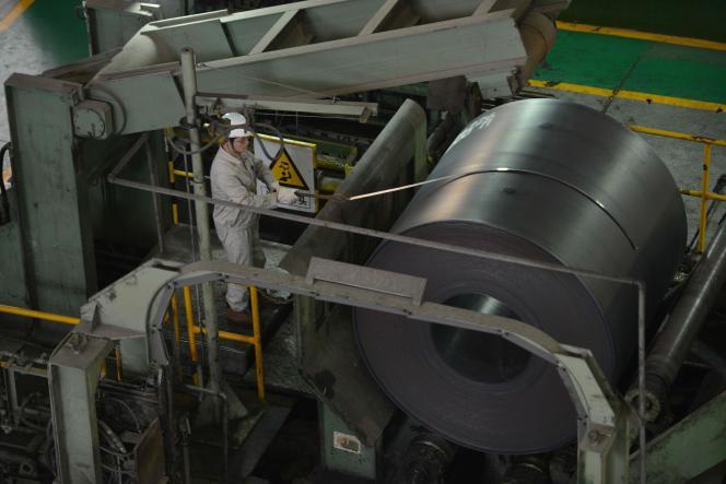 Dans une aciérie de Baosteel à Shanghaï, en juin 2013.