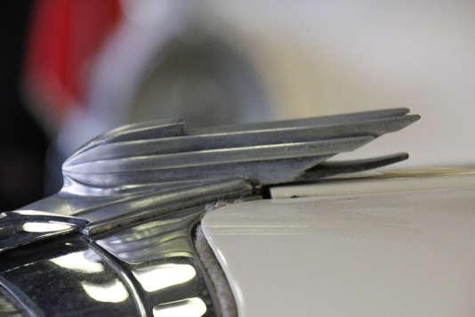 Un détail de carrosserie de la Panhard Dynamic.