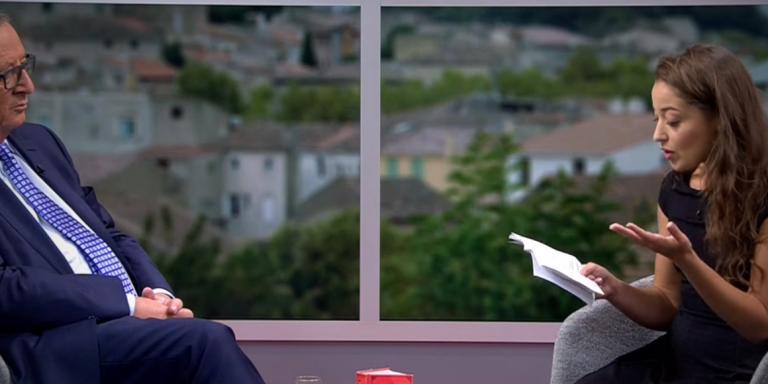 Jean-Claude Juncker interrogé en direct par la youtubeuse Laetitia Nadij.